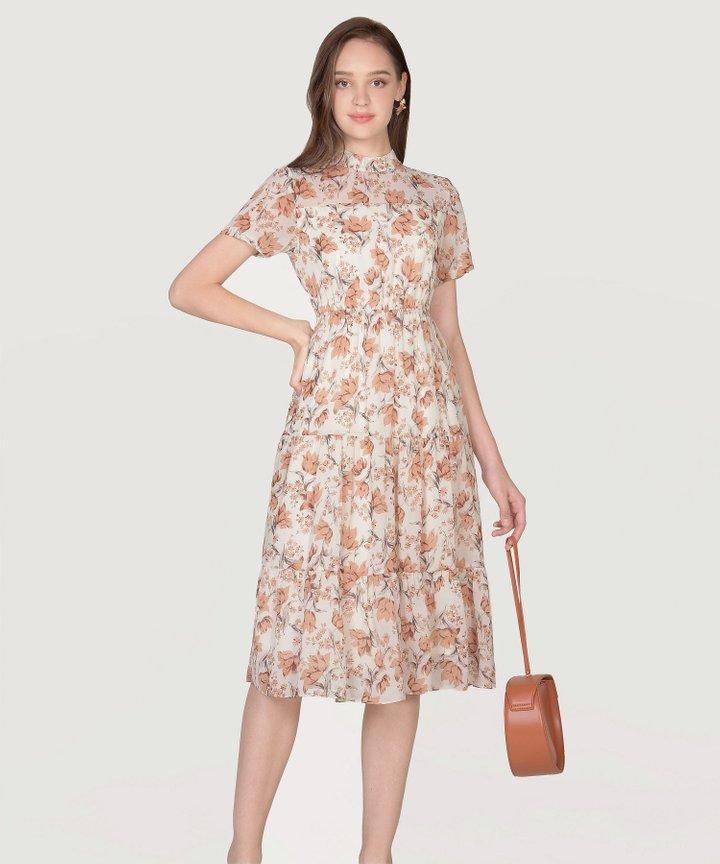 Isola Floral Midi Dress - Autumn