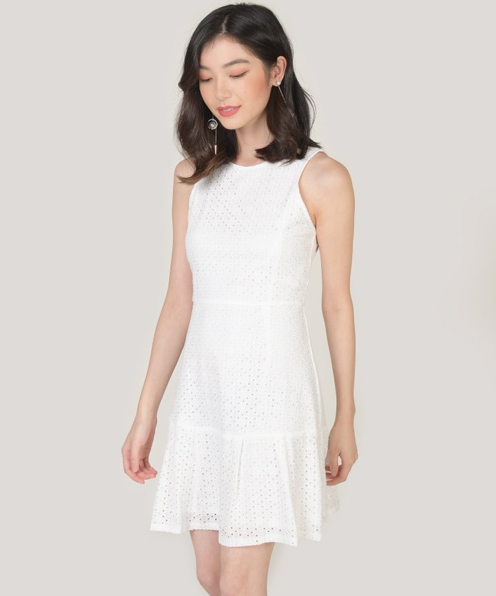 Lilah Eyelet Dress - White