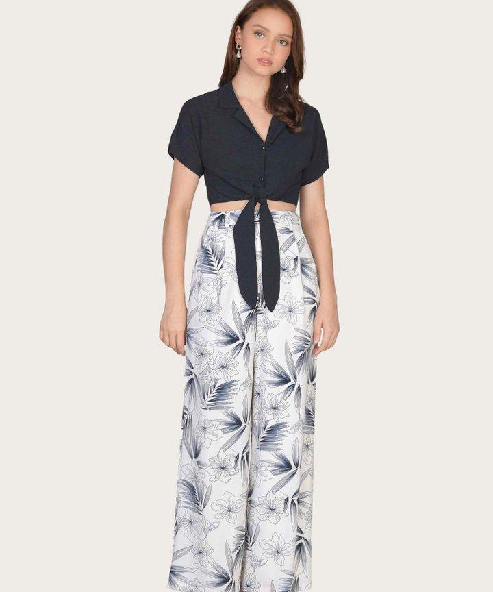 Malibu Wide Leg Pants - Navy