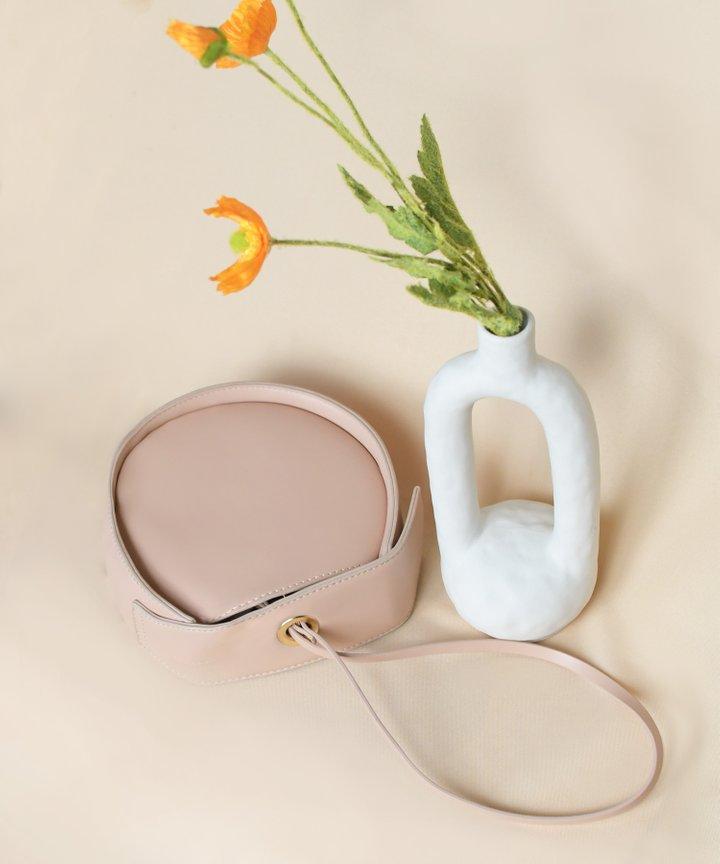 Moda Circle Bag - Nude Pink
