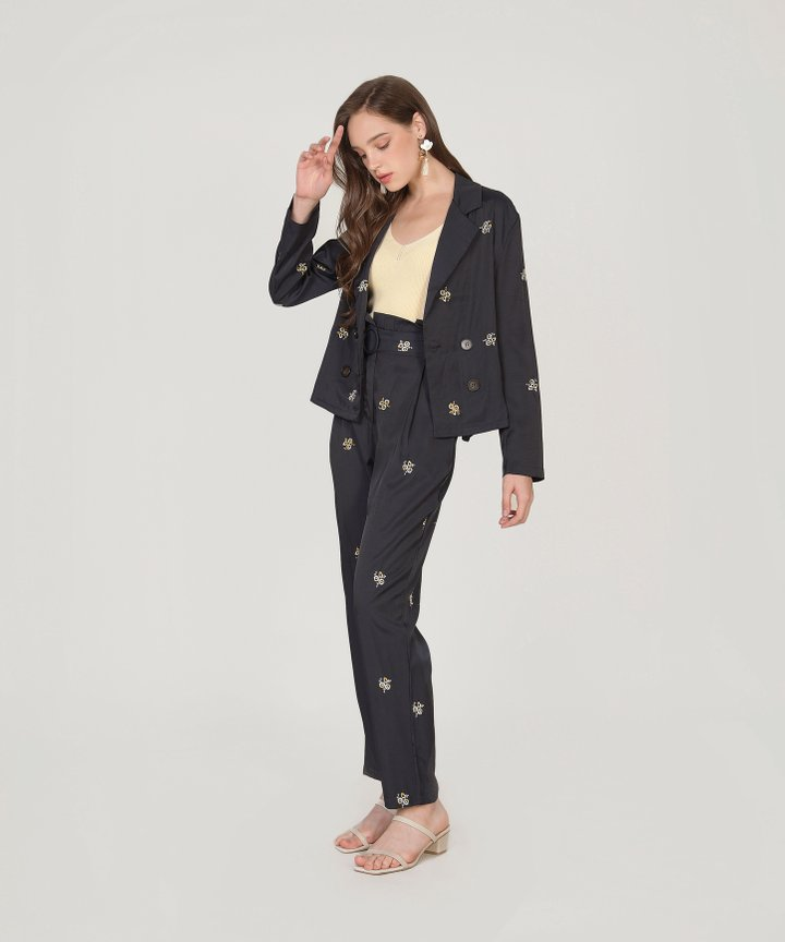 Vivetta Floral Embroidered Pants