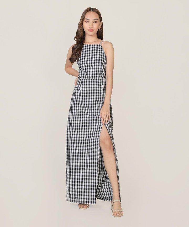 Kismet Gingham Maxi Dress