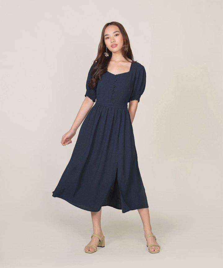 Lafayette Midi Dress - Midnight Blue