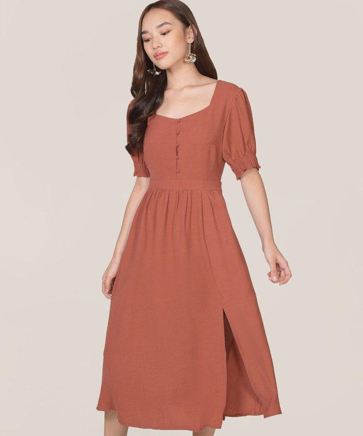 Lafayette Midi Dress - Redwood