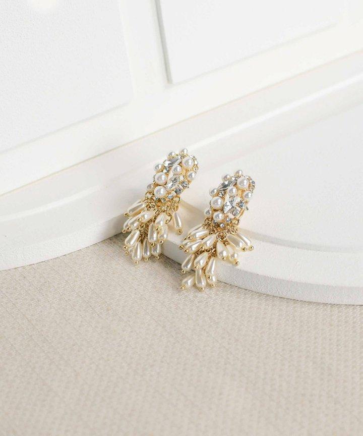 Romi Pearl Cluster Earrings