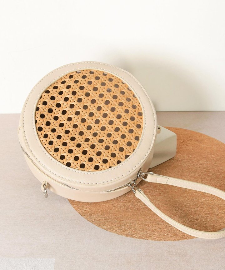 Armandine Woven Circular Bag (Restock)