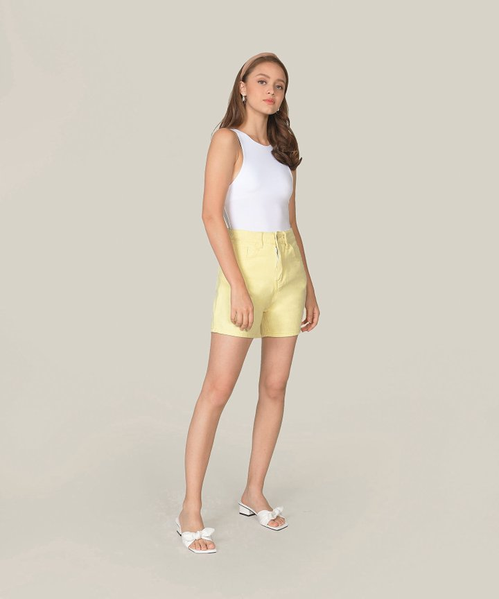 Carmel Denim Shorts - Daffodil
