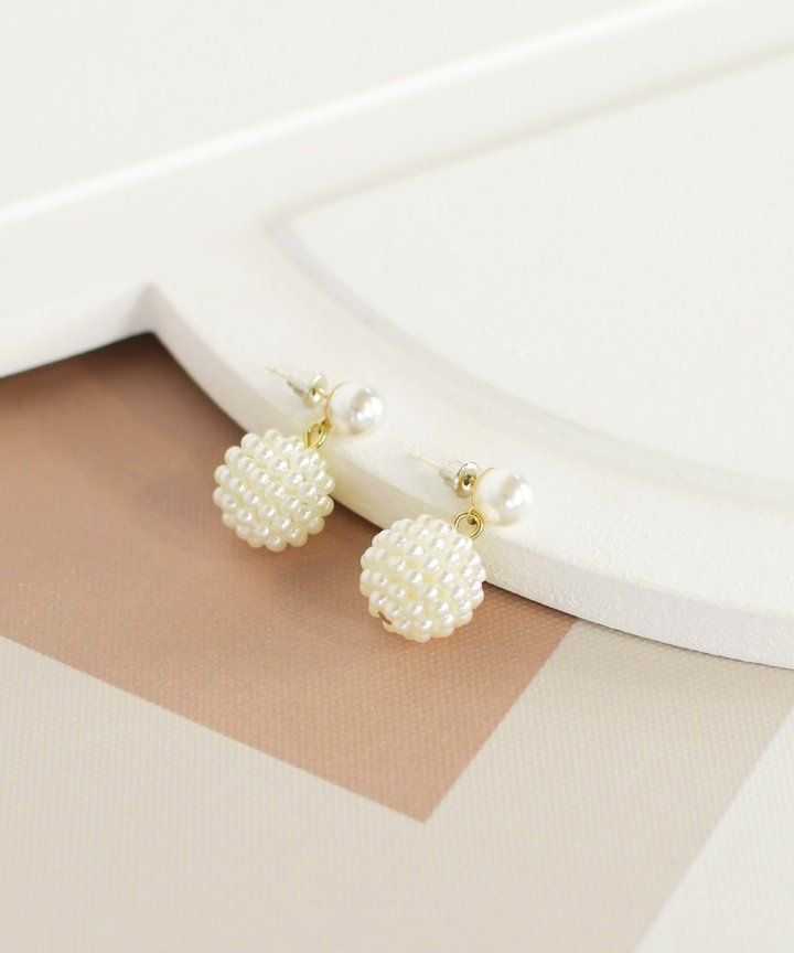 Demi Pearl Ball Earrings