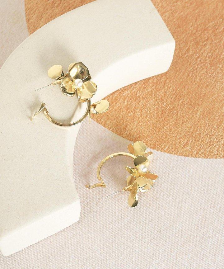 Ete Floral Hoop Earrings