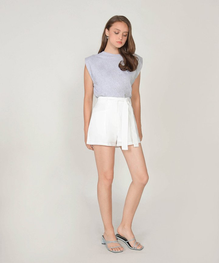 Isaias Padded Muscle Tee - Heather Grey