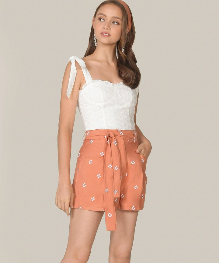 Lily-Rose Embroidered Top - White