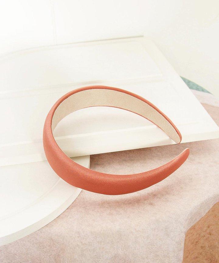 Mirelle Satin Hairband - Coral Pink