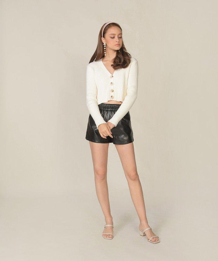 Sancerre Pleather Shorts - Black