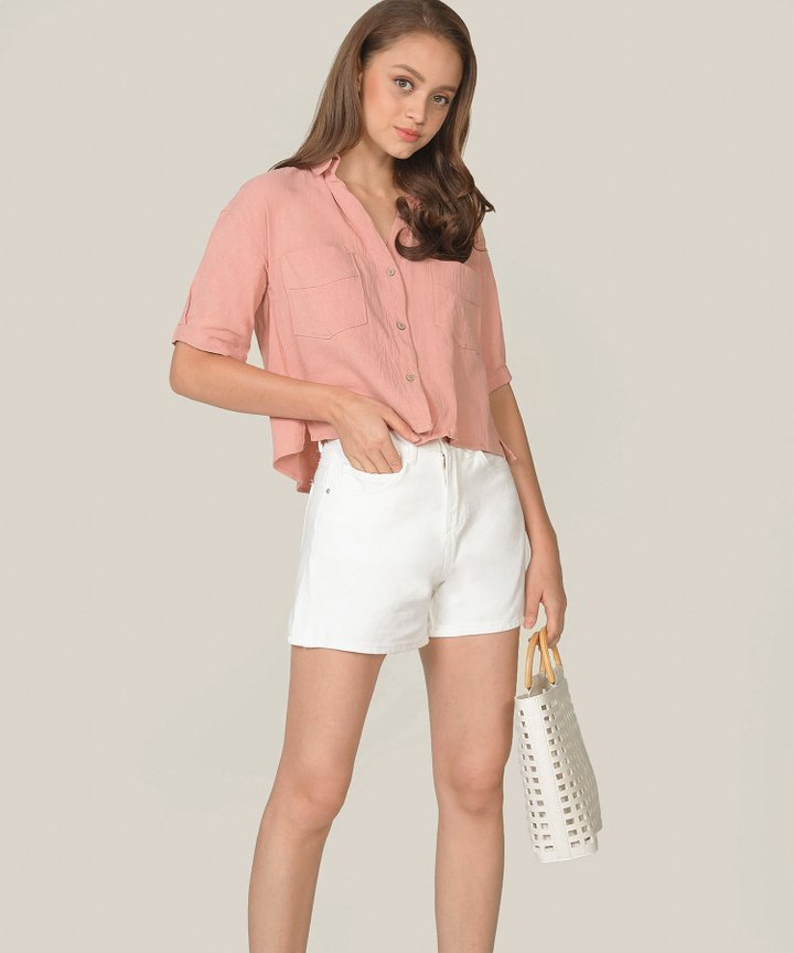 Simonne Chambray Shirt - French Pink