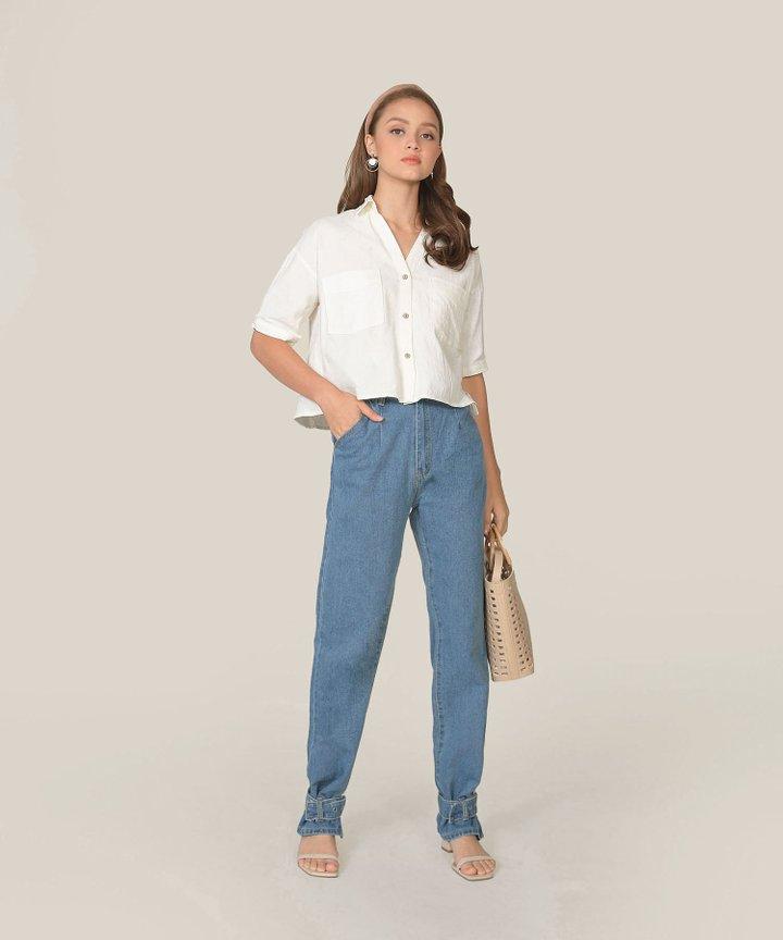 Simonne Chambray Shirt - White
