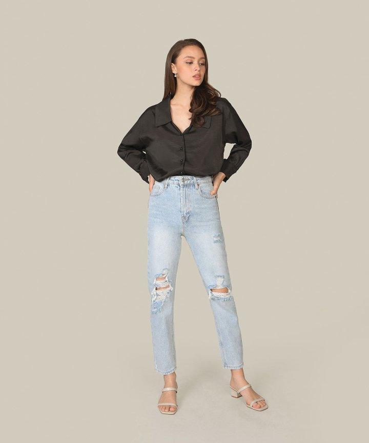 Astrid Oversized Shirt - Black