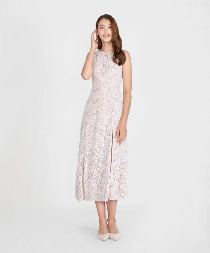 Hellenika Lace Maxi Dress - White