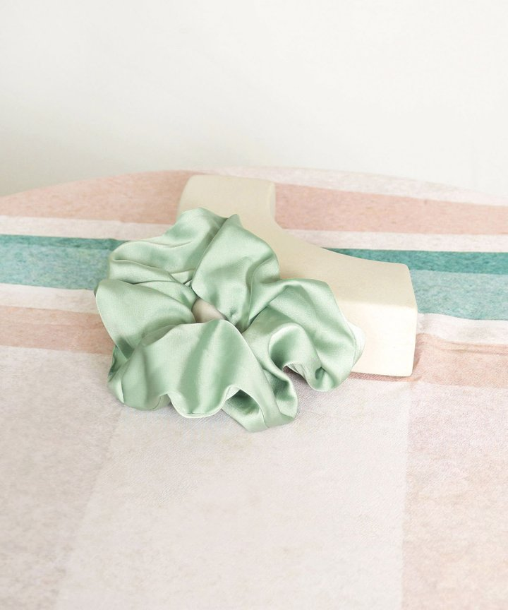 Moonlight Satin Scrunchie - Seafoam (Restock)