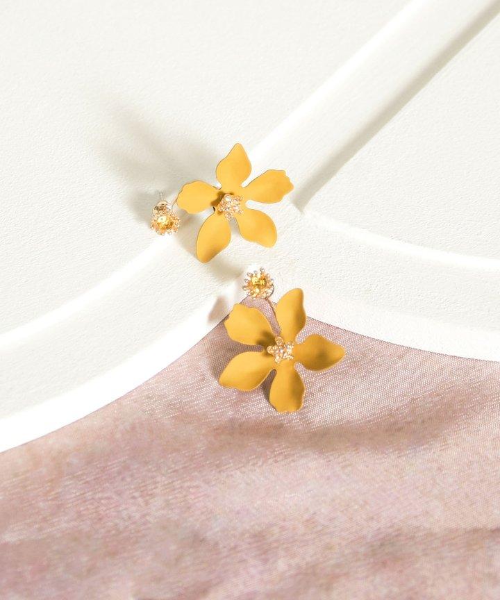 Pastures Floral Earrings - Mustard (Restock)