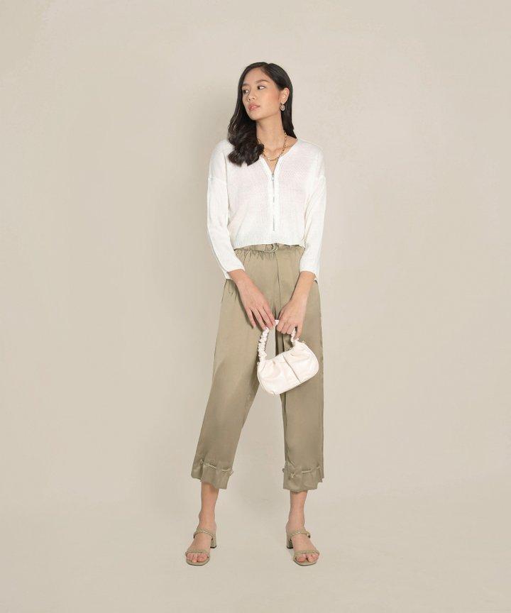 Perenne Satin Drawstring Trousers