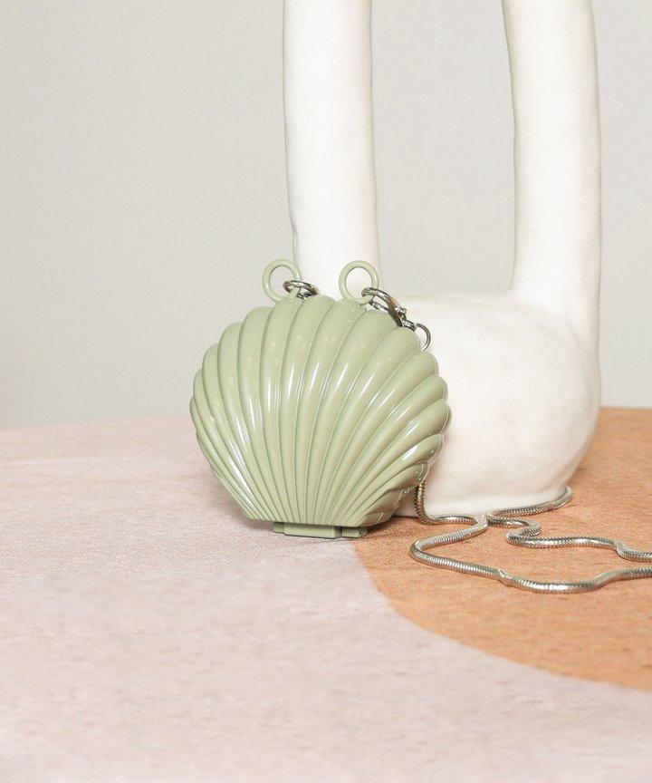 Visage Seashell Mini Clutch - Sage