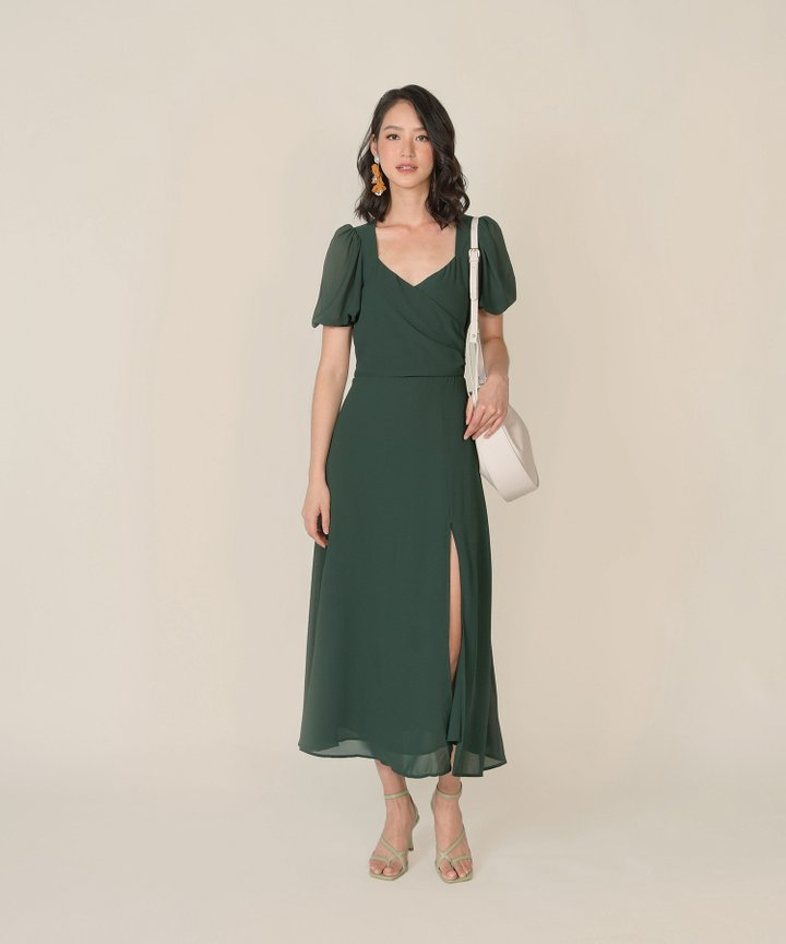 Faustine Wrap Maxi Dress