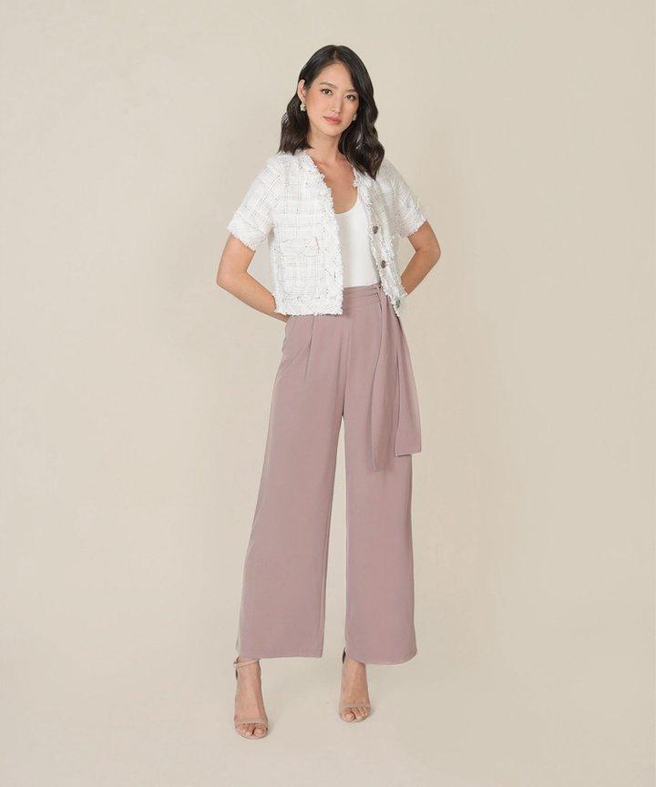 Templeton Wide-Leg Trousers - Dusk Pink (Restock)