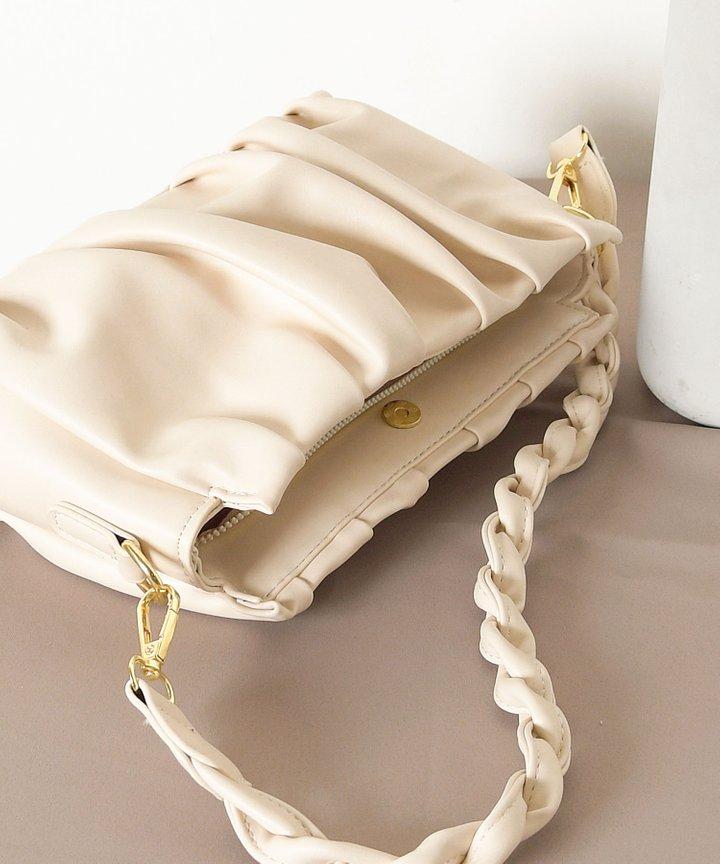 Béchamel Ruched Bag - Cream