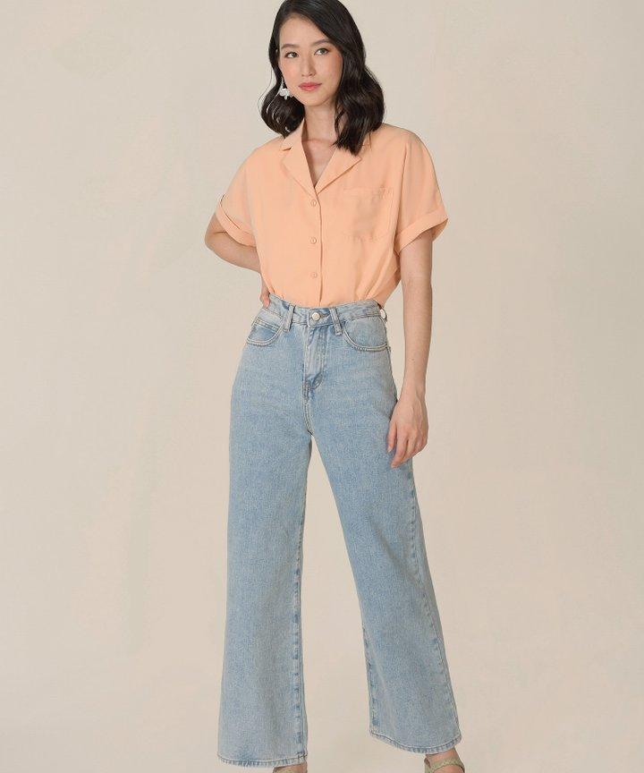 Canberra Blouse - Peach Parfait
