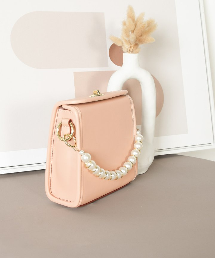 Nanette Pearl Handle Bag - Blush Pink