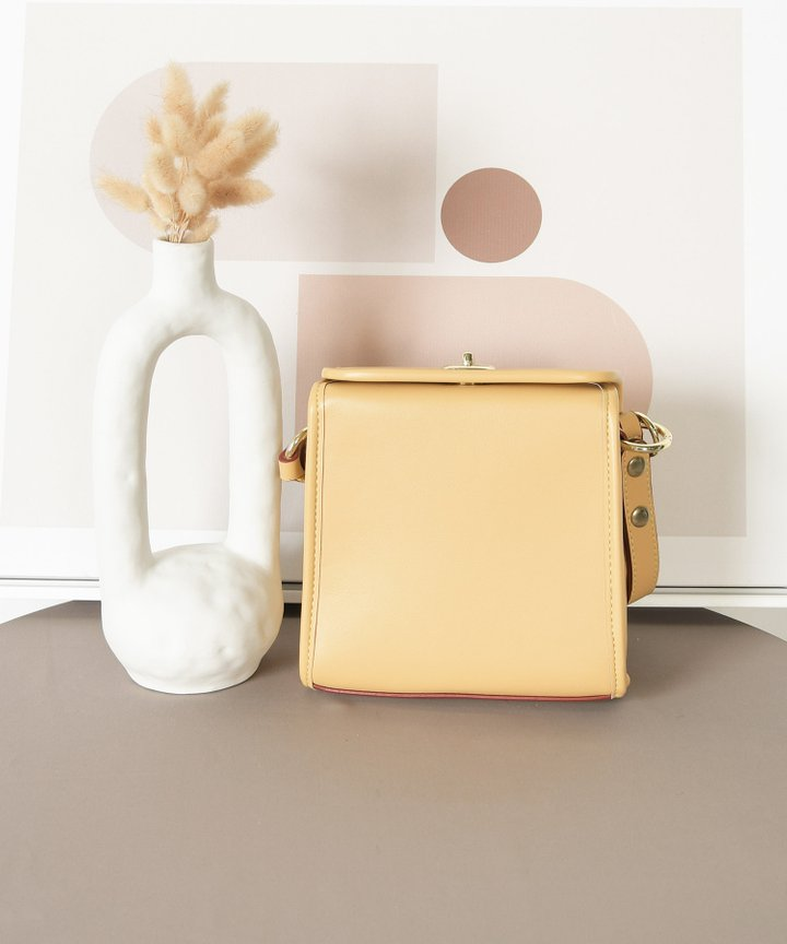 Nanette Pearl Handle Bag - Mellow Yellow