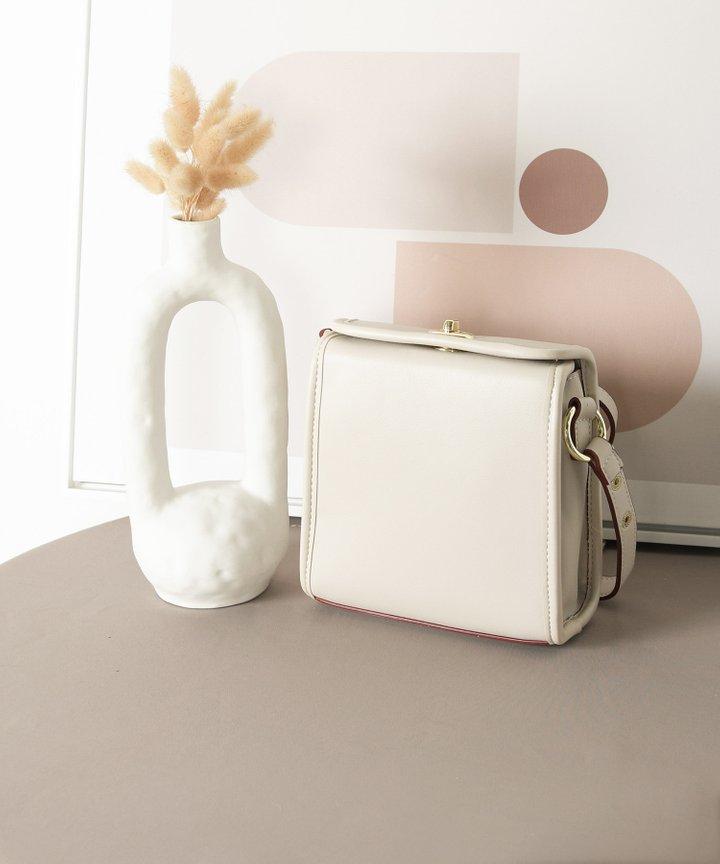 Nanette Pearl Handle Bag - Stone