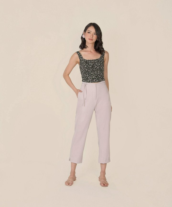 Belle Ame Cropped Pants Co-ord - Pale Lilac