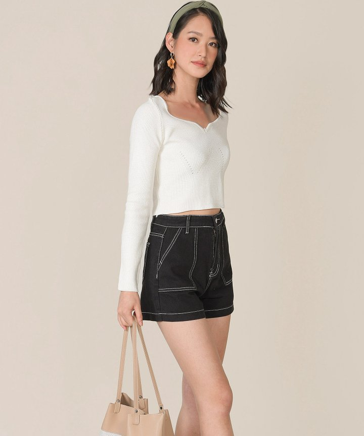 Rio Vista Knit Top - Off-White