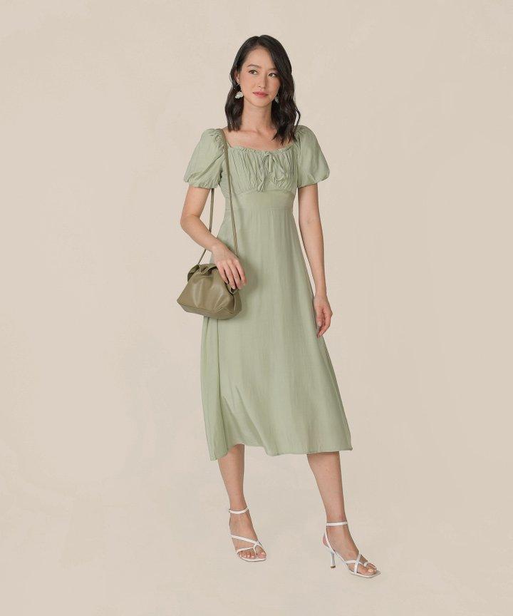 Sencha Ruched Midi Dress