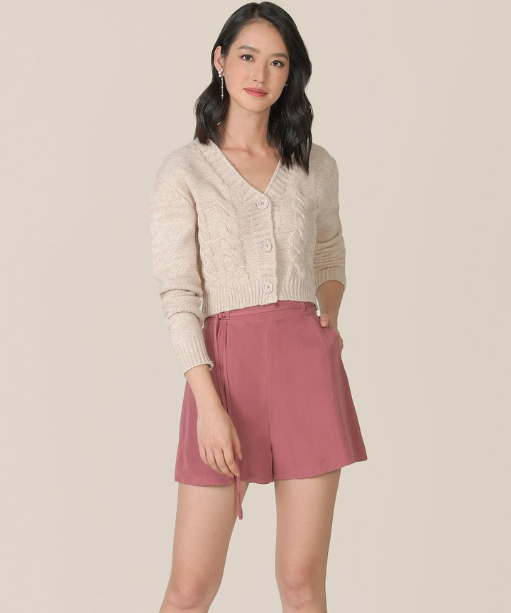 Sorbet Linen Shorts - Raspberry