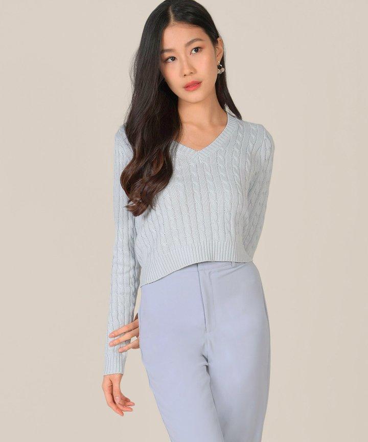Prescott Tailored Pants - Hydrangea Blue