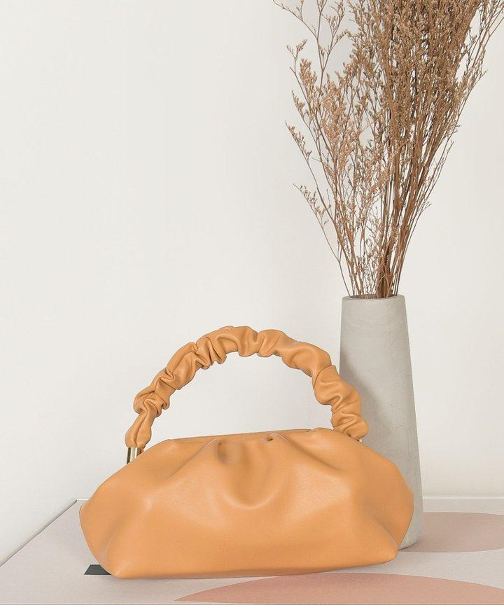 Elixir Ruched Handle Bag - Dijon
