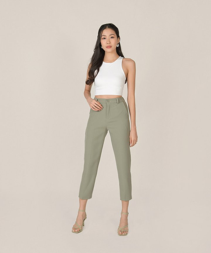 Estrella Cropped Pants - Dusk Sage