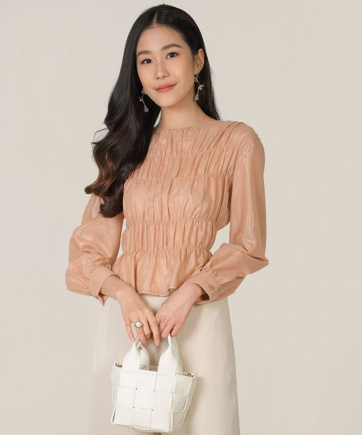 Halcyon Gathered Blouse - Rosé