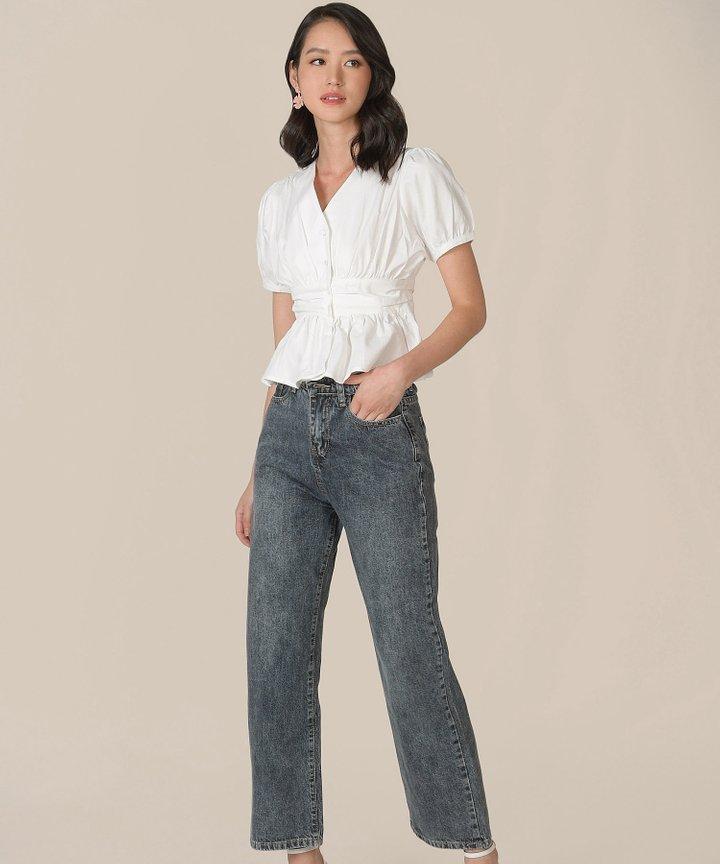 Halifax Straight Jeans - Stone