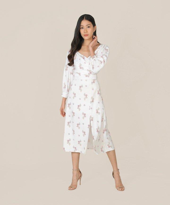 Leighton Knotted Wrap Blouse - White