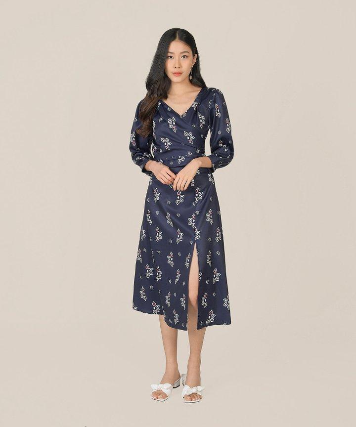 Leighton Slit Midi Skirt - Royal Blue