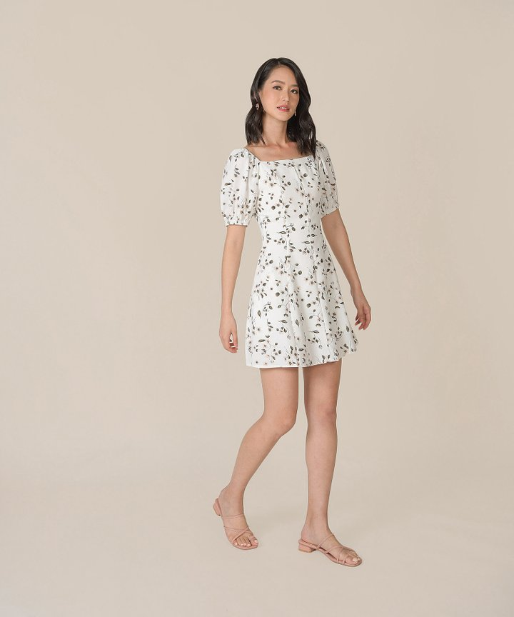 Ruth Floral Dress - White