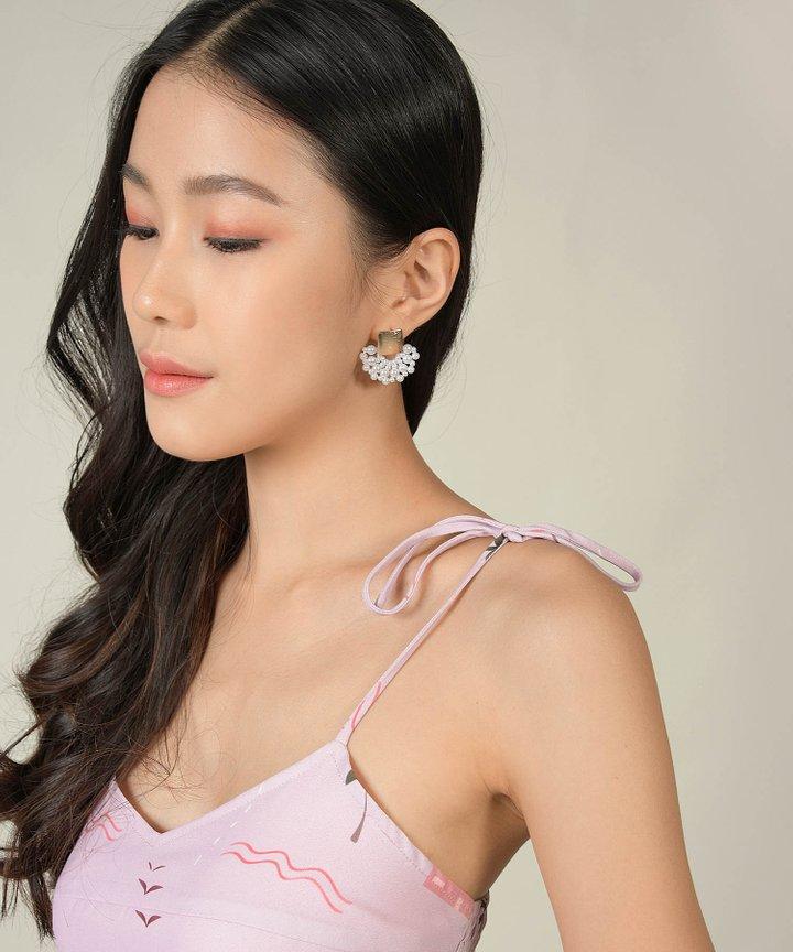 Anine Pearl Fan Earrings