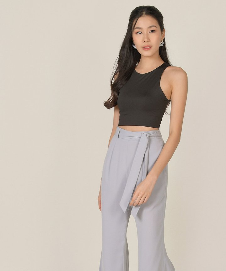 Silverlake Basic Cropped Tank - Black