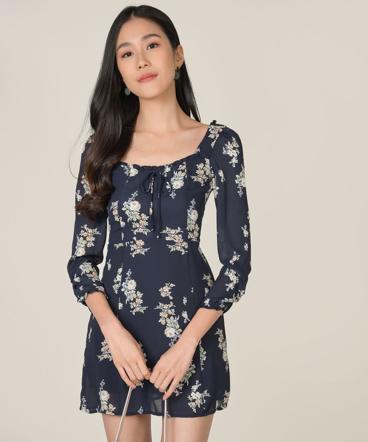 Avarice Floral Mini Dress (Backorder)