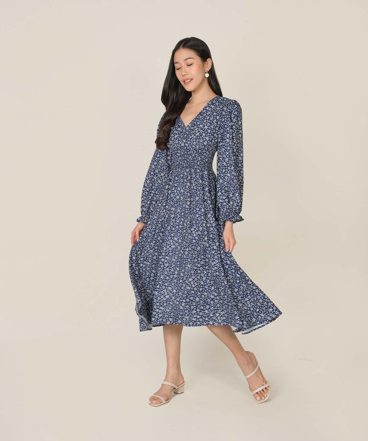 Nayirah Floral Midi Dress (Backorder)