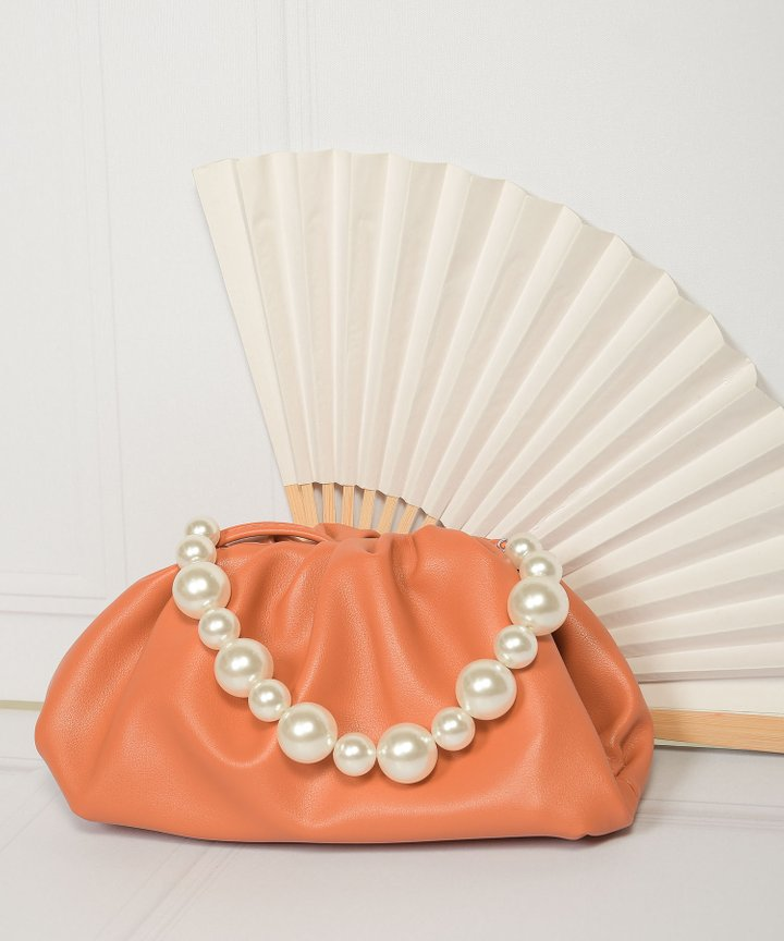 Sommar Pearl Handle Purse - Clay