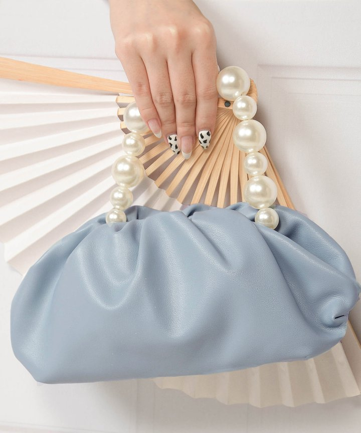 Sommar Pearl Handle Purse - Sky